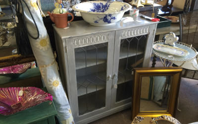 Our vintage and up-cycled furniture shop opened this month.