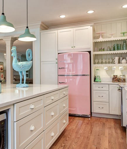 Pink Vintage Kitchen Tracey Andrews Interiors